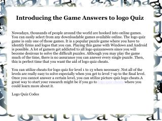 Cheats to Logo Quiz