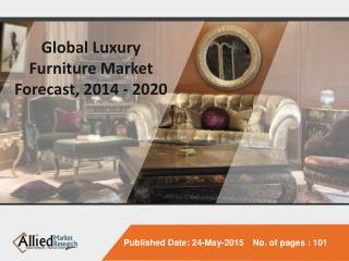 Global Luxury Furniture Market Size, Share, Global Trends,