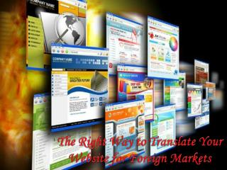 The Right Way to Translate Your Website for Foreign Markets