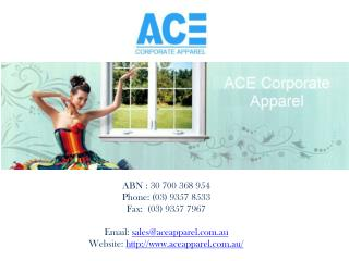Promotional Corporate Clothing in Melbourne