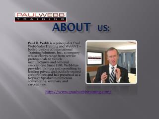 Paul Webb Training