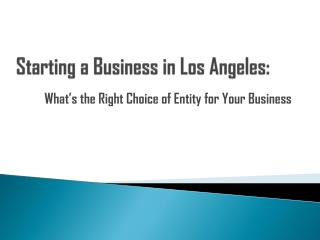 Starting a Business Los Angeles
