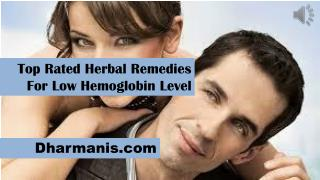 Top Rated Herbal Remedies For Low Hemoglobin Level