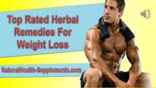 Top Rated Herbal Remedies For Weight Loss