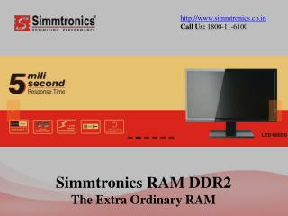 Simmtronics RAM DDR2 - The Extra Ordinary RAM