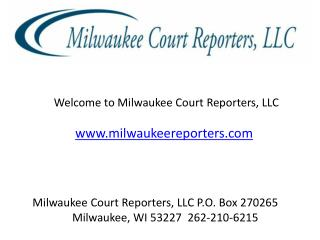 Court Reporting Agencies in Milwaukee