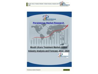 Mouth Ulcers Treatment Market: Global Industry Analysis