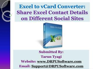 Excel to vCard Converter-Share Excel Contact to Social Sites