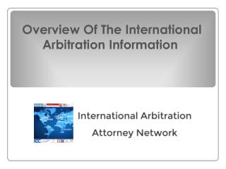 International Arbitration Overview