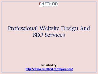 Professional Website Design And SEO Services