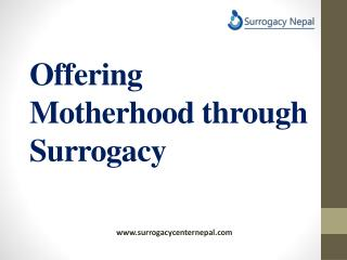 offering motherhood through surogacy