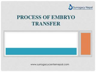 Process of embryo transfer