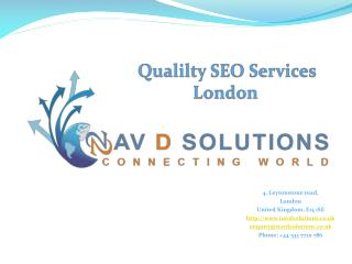 Quality and Affordable SEO Services in London
