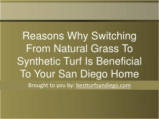 Reasons Why Switching From Natural Grass To Synthetic Turf I