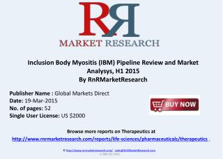 Inclusion Body Myositis (IBM) Therapeutic Development  2015