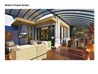 Modern Pergola Designs For Your Dream Home