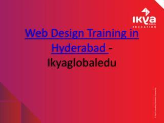web design training in hyderabad - ikyaglobaledu