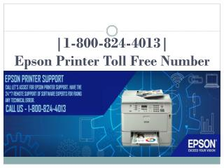 Epson printer toll free number.