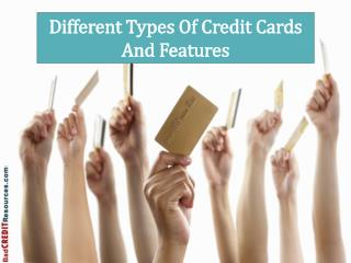 Different Types Of Credit Cards And Features