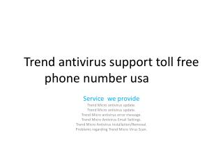 TREND Customer Service And Support Phone Numbers