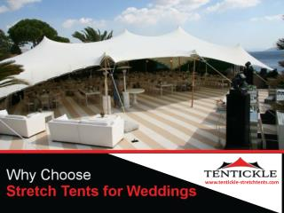 Why Choose Stretch Tents for Weddings