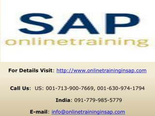 SAP BPC Trainig Online and Placement - Online Training in SA