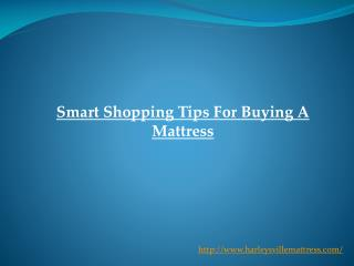 Smart Shopping Tips For Buying A Mattress