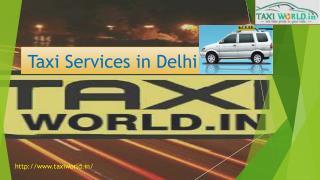 Taxi Services in Delhi