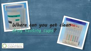Where can you find clean drug testing cups?
