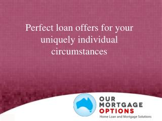 Perfect loan offers for your uniquely individual circumstanc