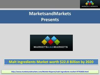 Malt Ingredients Market by Type, Source, Application, Region