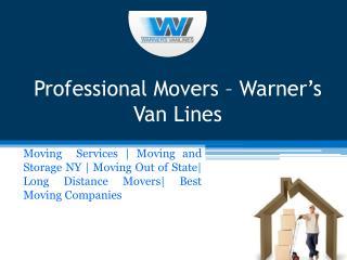 Professional Movers – Warner's Van Lines