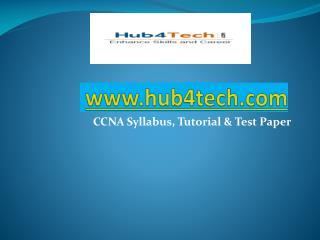 CCNA Exam Syllabus