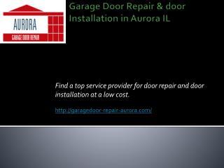 garage door cables repair aurora