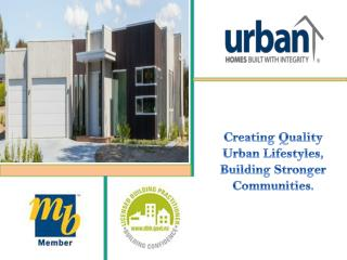 Urban Homes - A Leading and Registered Master Builder