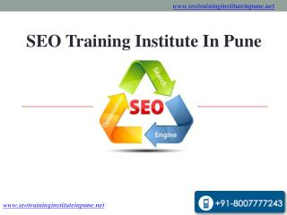 SEO Training Institute in Pune,Digital Marketing Classes & C