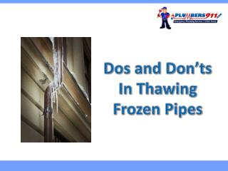 Dos and Don'ts in Thawing Frozen Pipes in Your Missouri Home