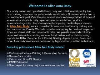 Allen Auto Body
