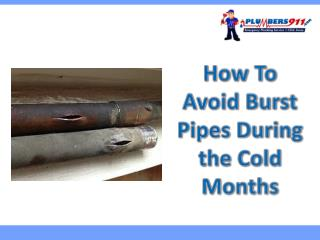 How To Avoid Burst Pipes During the Cold Months in Kansas