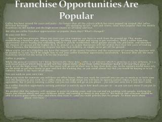 Java Times Caffe Coffee Franchise Opportunities Are Popular