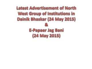 Advertisement of North West Group of Institutions