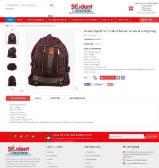 Zicoon stylish red school and college bag | Student Bazaar