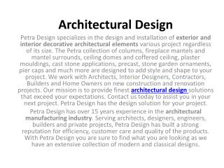 Architectural Decorative Products