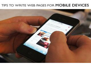 Tips to write web pages for Mobile devices