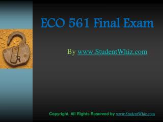 ECO 561 Final Exams