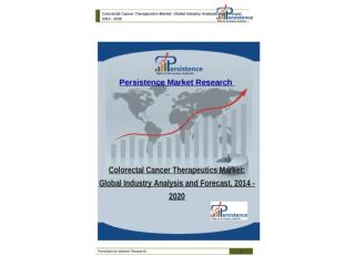 Colorectal Cancer Therapeutics Market