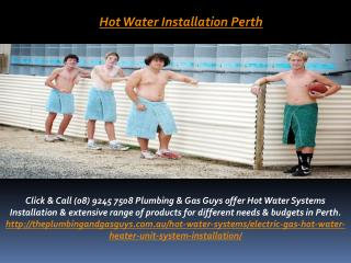 Hot Water Installation Perth