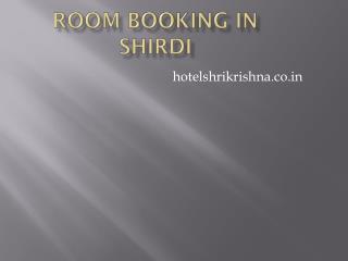 Room Booking in Shirdi