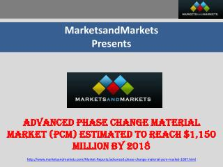 Advanced Phase Change Material Market (PCM) worth $1150 M