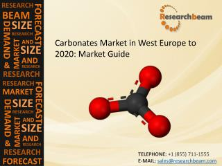 Carbonates Market in West Europe to 2020: Market Size